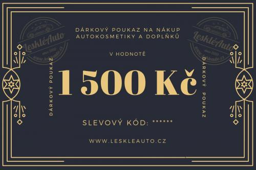 Dárkový poukaz v hodnotì 1500 Kè