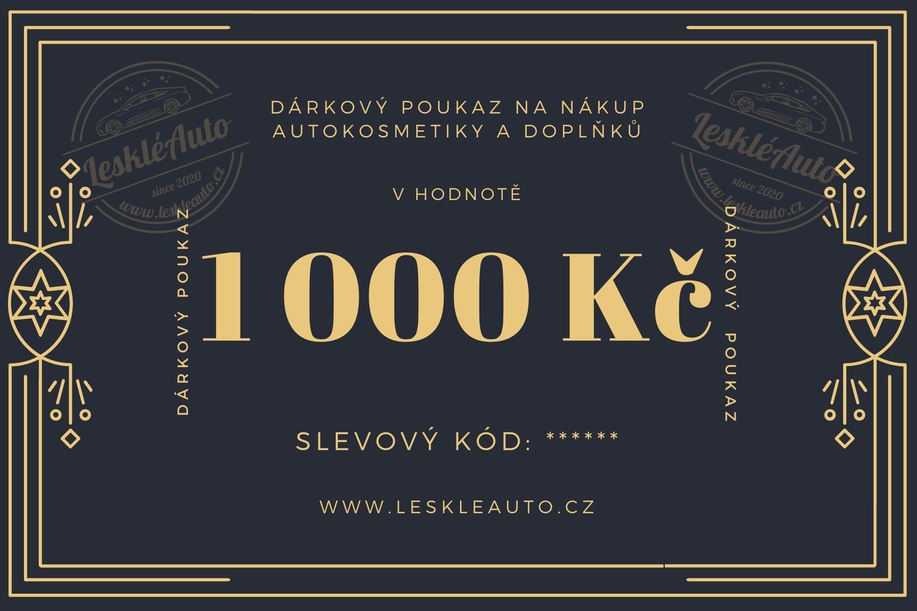 Dárkový poukaz v hodnotì 1000 Kè - zvìtšit obrázek