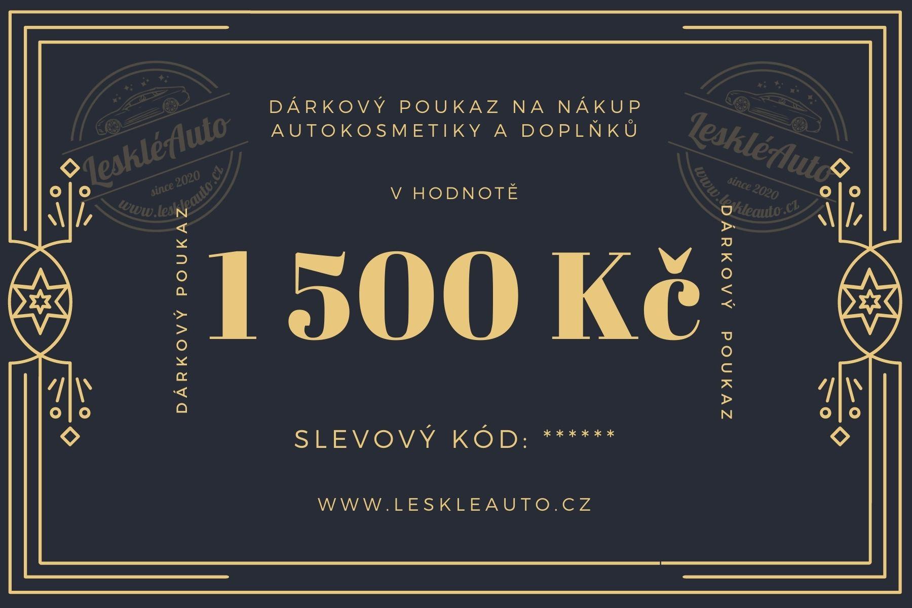 Dárkový poukaz v hodnotì 1500 Kè - zvìtšit obrázek