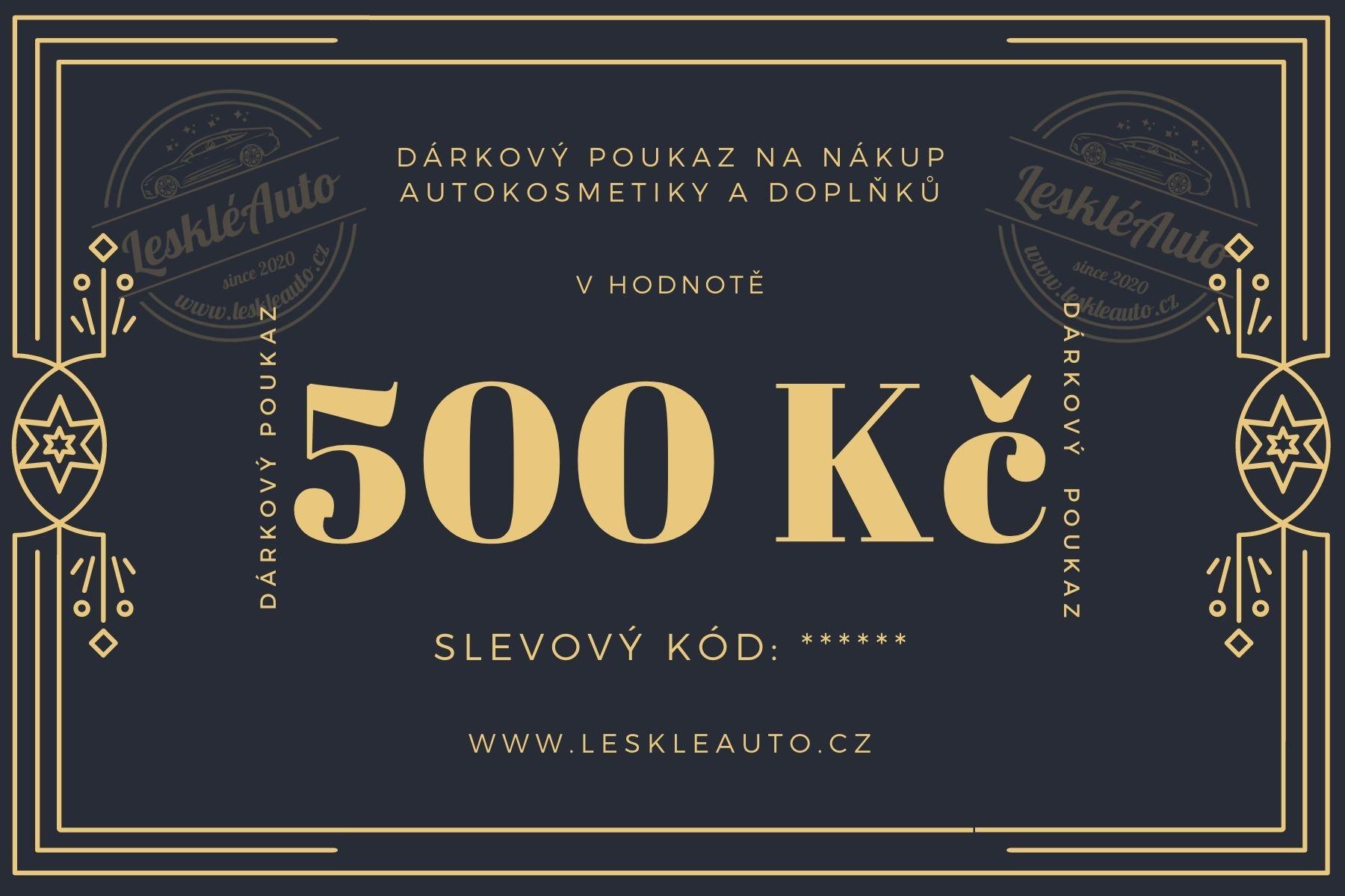 Dárkový poukaz v hodnotì 500 Kè - zvìtšit obrázek